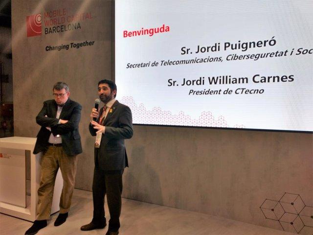 Jordi William Carnes (CTecno), Jordi Puigneró (Generalitat)