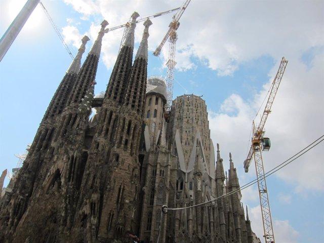 Fachada de la basílica de la Sagrada Familia