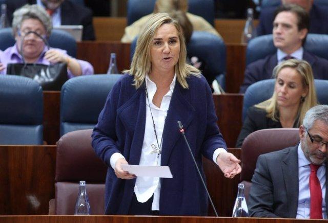 Rosalía Gonzalo en la Asamblea de Madrid