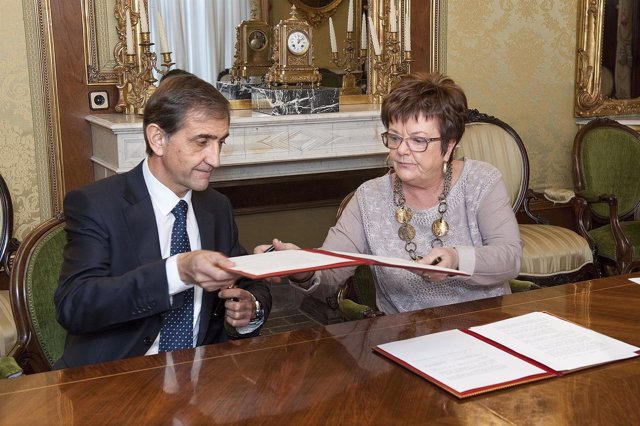 Emilio Sáenz y María José Beaumont
