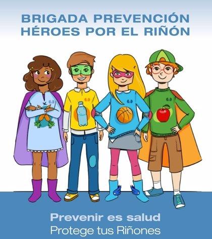 Más de 2.000 alumnos de colegios de toda España participan en la iniciativa 'Brigada prevención. Héroes por el riñón'