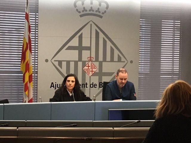 El concejal Eloi Badia y la directora del Tibidabo Rosa Ortiz