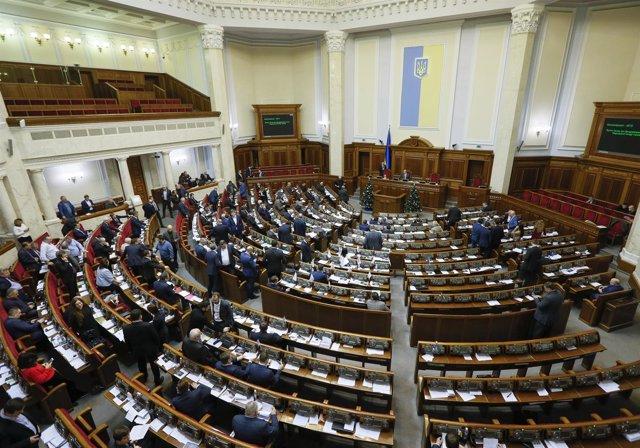 Foto de archivo de una sesión parlamentaria en Kiev