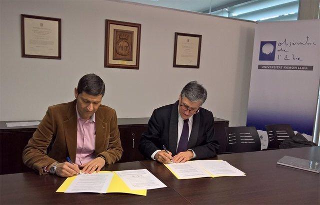 Institut Cartogràfic i Geològic y Observatori de l'Ebre renuevan su colaboración