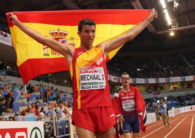 Adel Mechaal campeón Europa oro 3000 metros Europeo Belgrado