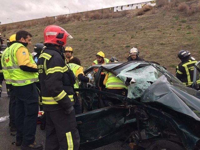 Imagen del accidente de ayer
