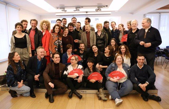 Foto de familia de los Premios de la Unión de Actores