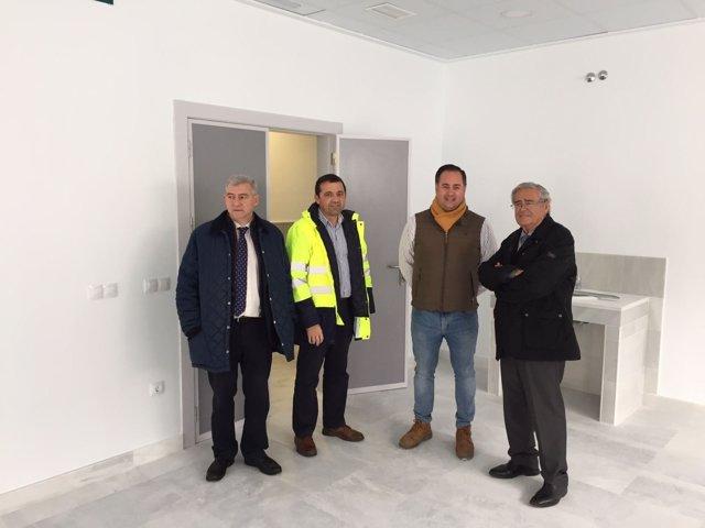 Guillermo Casquet y Andrés García Lorca, durante la visita de obras en Macael.