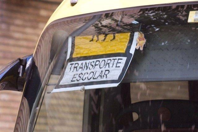 Transporte escolar, bus, autobús escolar