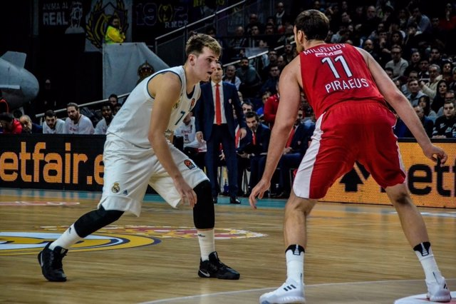 Luka Doncic Milutinov Real Madrid Olympiacos