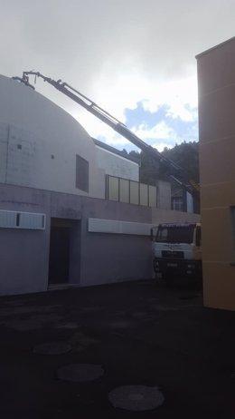 Reparación de la cubierta del IES Tamaimo