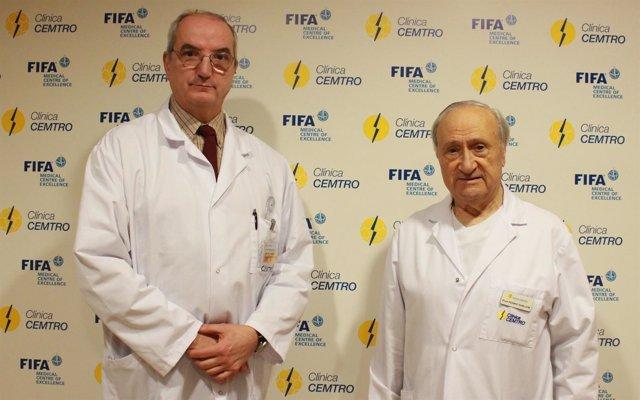 Los doctores Tomás Fernández Jaén y Pedro Guillén
