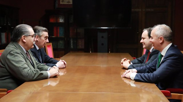 Teruel, Beamonte, Sánchez y Campoy han mantenido hoy una reunión