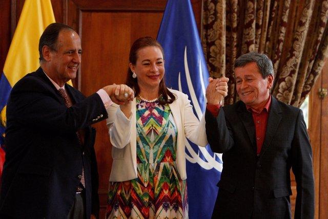 Juan Camilo Restrepo, María Fernanda Espinosa y Pablo Beltrán