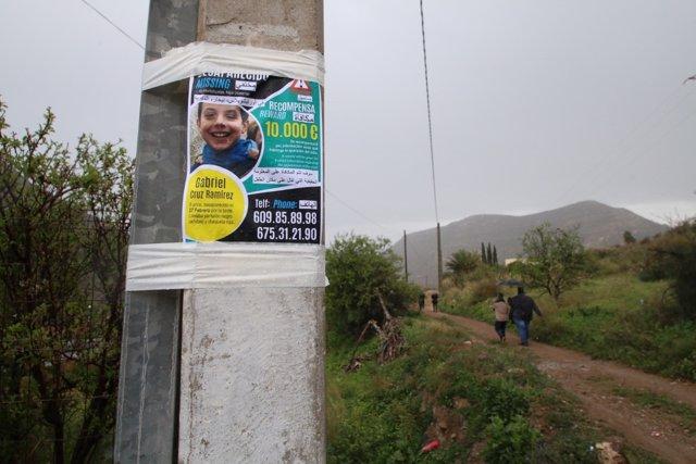 Un cartel anucia la desaparición de Gabriel Cruz