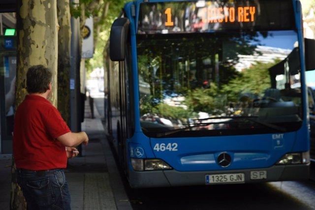 Autobús, autobuses, Madrid, EMT, transporte público