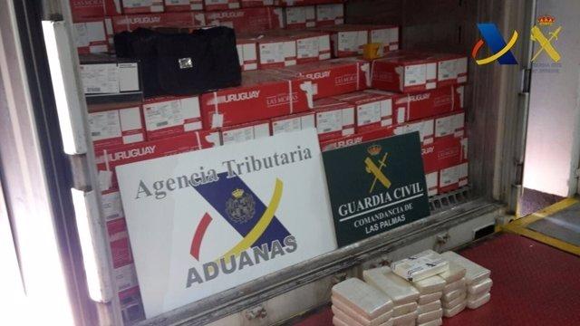 Material incautado en el Puerto de Las Palmas