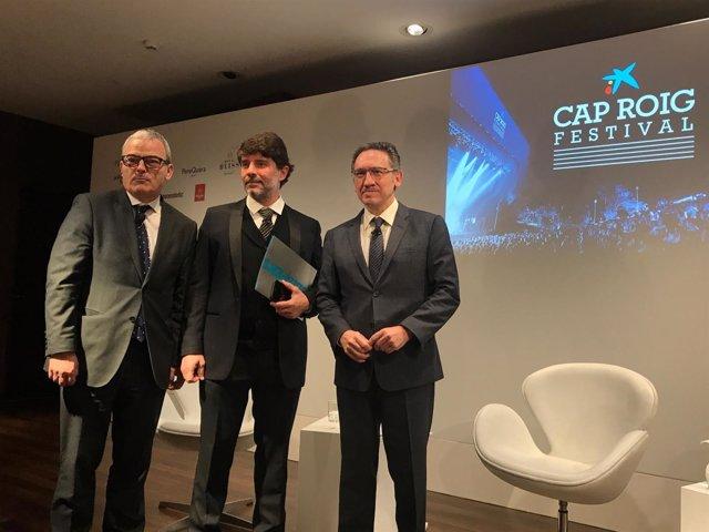 Josep Ollé (Palau Macaya), Juli Guiu (Clipper's) y J.Giró (La Caixa)