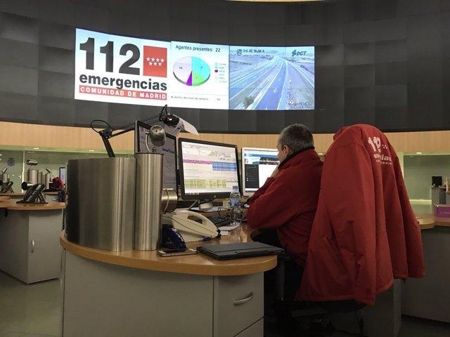 Trabajador de 112 Comunidad de Madrid