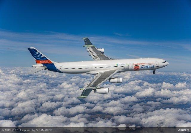 El Airbus con ala de flujo laminar