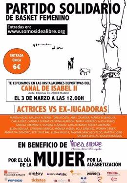 Partido solidario de baloncesto por el Día Internarcional de la Mujer