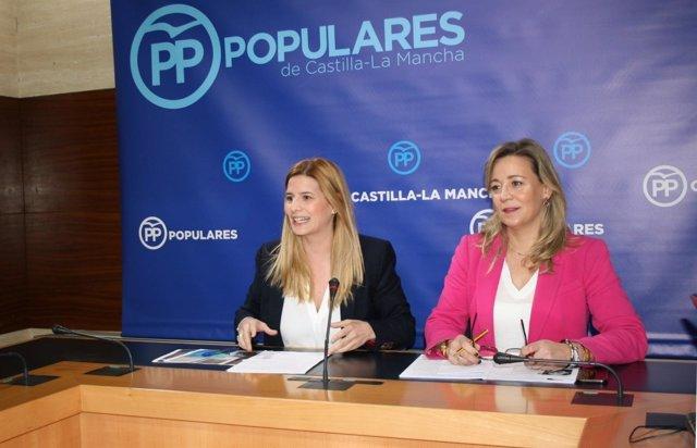 Gpp Clm (Cortes De Voz Y Fotografía) Rueda De Prensa De Carolina Agudo Y Lola Me