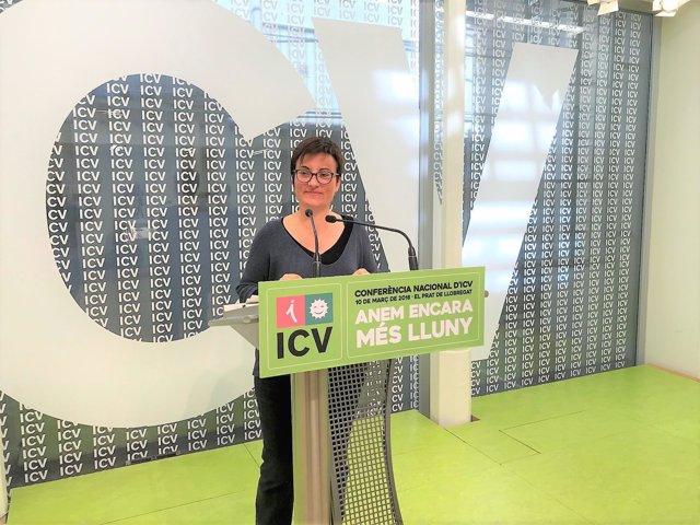 La coordinadora nacional de ICV, Marta Ribas