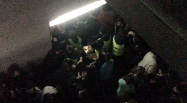 Vídeo inédito del Madrid Arena