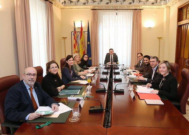 Foto de archivo de un pleno del Consell