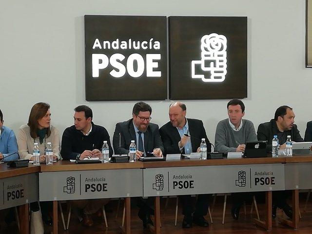 Reunión con representantes socialistas en los Grupos de Desarrollo Rural.