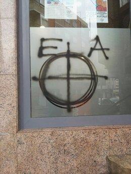 Imagen de la pintada en la sede de Podemos Jaén