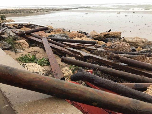 Efectos de la borrasca Emma en El Puerto de Santa María (Cádiz)