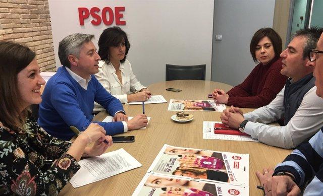 Reunión entre PSOE y UGT ante el 8 de marzo