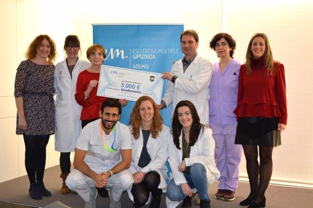 Donación de ADEMGI a Biodonostia