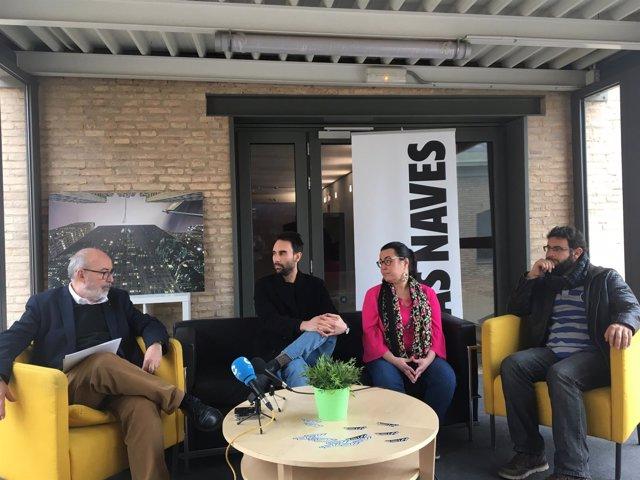 Manuel Alcaraz, Pepe Borrás, Sandra Ordoñez y Roberto Jaramillo (de izq. A dcha)