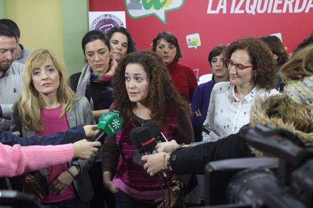 Carmen Castilla, Inmaculada Nieto y Nuria López.