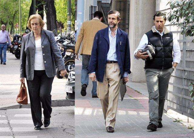 Teresa Rivero, Álvaro y Javier Ruiz Mateos