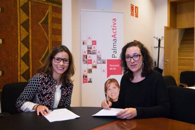 Firma del protocolo entre PalmaActiva y Thomas Cook