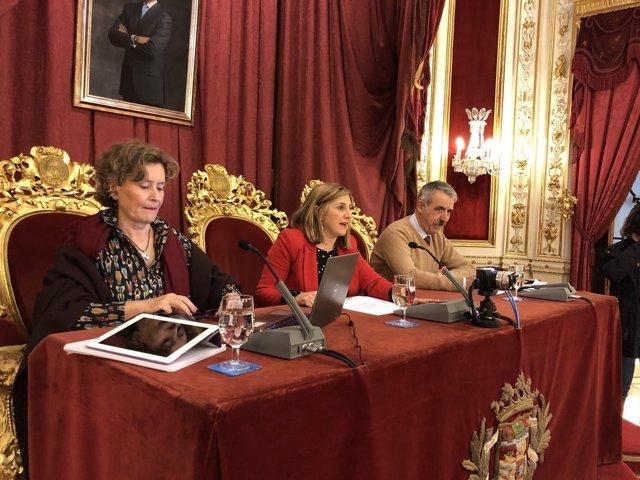 Irene García, presidenta de Diputación de Cádiz en el salón de plenos