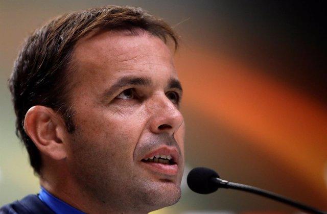 El entrenador del Villarreal Javier Calleja