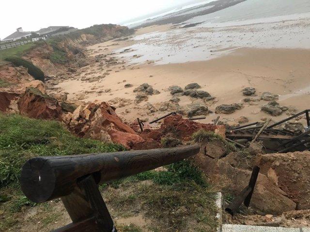 Efectos del temporal en la costa de Cádiz