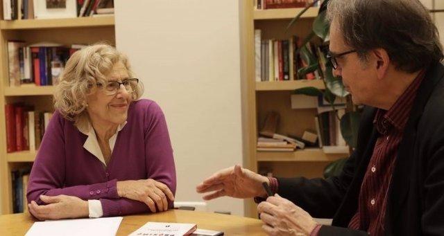 Manuela Carmena, y Joan Subirats, comisionado de Cultura de Barcelona