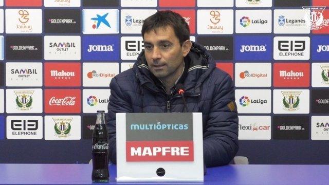 Asier Garitano, entrenador del CD Leganés
