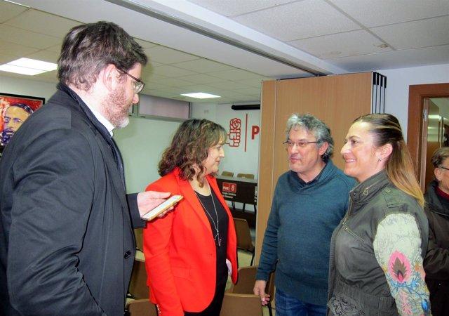 Iratxe García, Urquizu y Virginia Barcones.