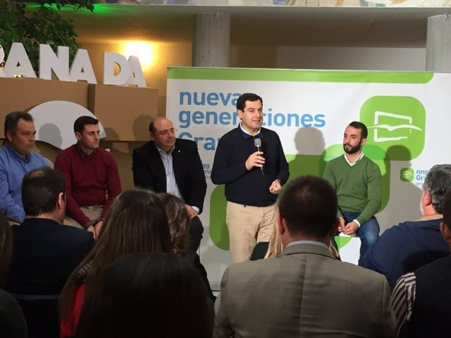 Juanma Moreno, en la intermunicipal de NNGG Granada