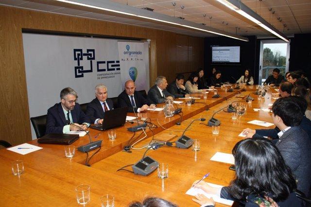 Reunión de OnGranada con Korea TechnoPark Association