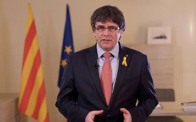 Candidato de JxCat a la Presidencia de la Generalitat, Carles Puigdemont