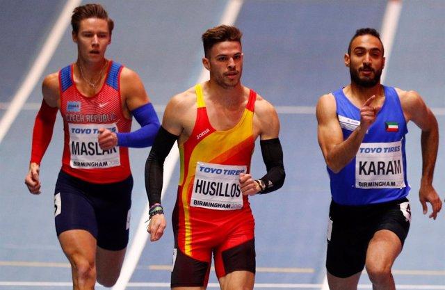 El español Óscar Husillos en el Mundial de Birmingham de pista cubierta
