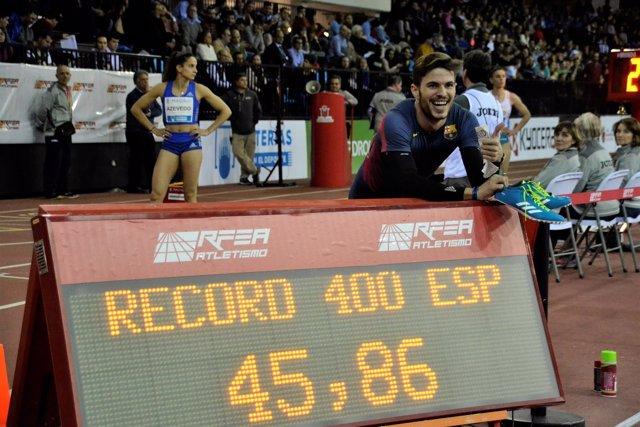 Óscar Husillos en el Meeting de Madrid