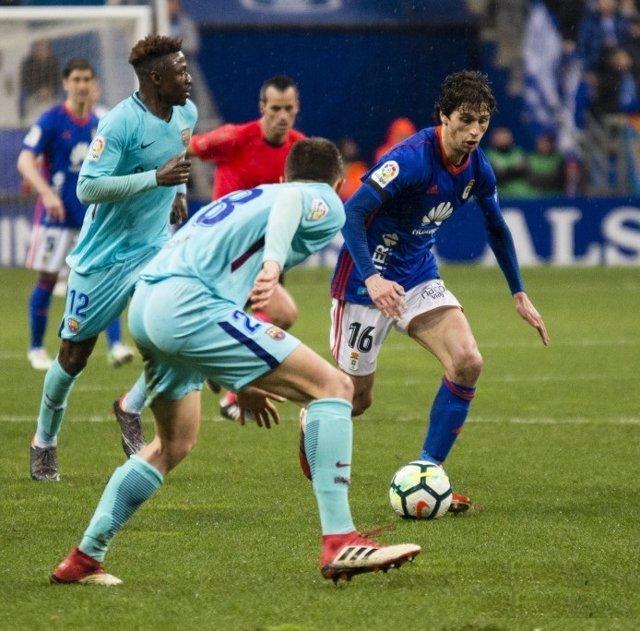 Oviedo y Barça B en el Tartiere